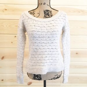 American Eagle Off White Sweater Blended Material